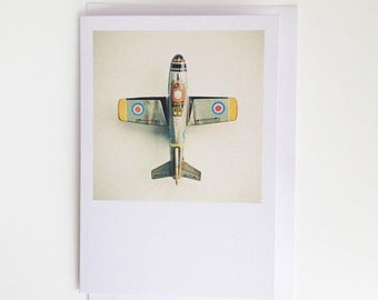 Childrens Greetings Card - Aeroplane