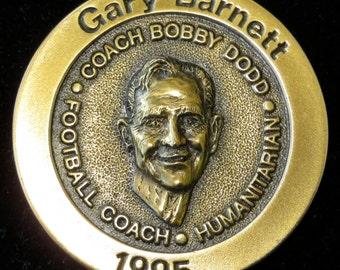 Bronze 1995 Gary Barnett Football Coach Of The Year Medallion Paper Weight - Free Shipping