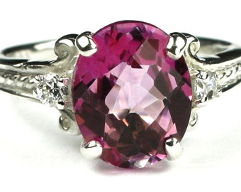 Pure Pink Topaz, 925 Sterling Silver Ring, SR136