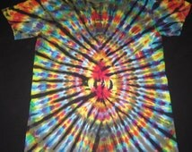 15 Psychedelic Turtle Egg, Tie Dye T-shirt, Fits Adult Unisex Small