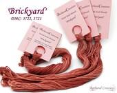 Hand dyed cotton embroidery thread for cross stitch, hardanger, blackwork - 'Brickyard'