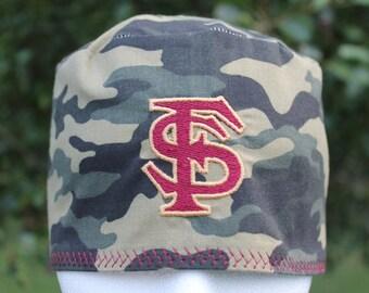Mens scrub hat/ Fsu Camo