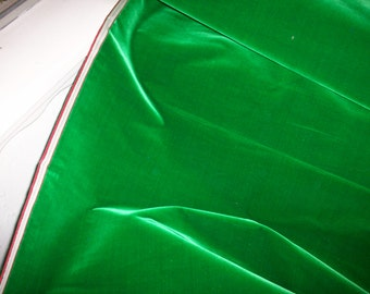 "Antique Silk Velvet Lush Amazon Green  26"" wide Clothing, Upholstery, Dolls Victorian"