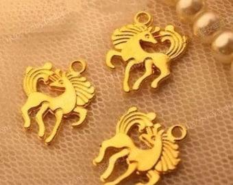 DIY  jewelry 50pcs antiqued gold horse charm pendant running horse pendant 19×16mm