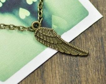 50 pcs of antique bronze bird wings  Charm Pendant 27x8mm