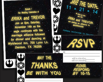 Printable Geek  Wedding Invitation Set