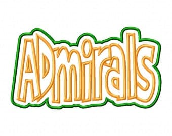 Admirals Text   Double Applique Designs