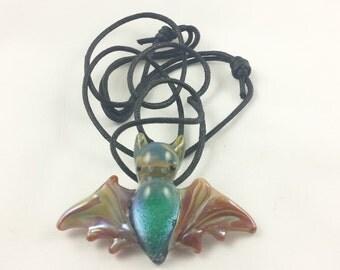 Bat - Glass Pendant Necklace