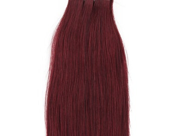 20 inches 100grs,40pcs, Human Tape In Hair Extensions #99J Burgundy Red Wine