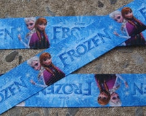 "Frozen ribbon #20 Printed Ribbon hair Bow Ribbon Frozen Princess 7/8"" Ribbon frozen sisters ribbon"
