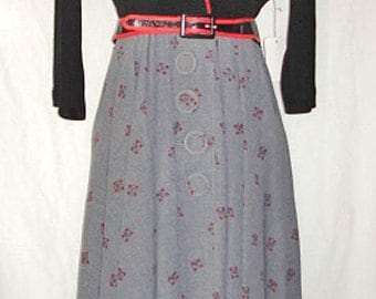 """Vintage 1950s Velvet and Wool  """"I Love Lucy"""" Dress —  size 10"""