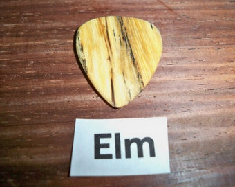 Elm wood guitar pick
