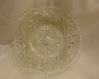 Lead Crystal Serving Bowl ~ FREE Domestic Shipping