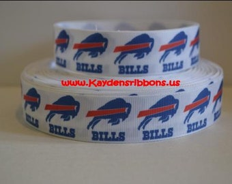 3 yards Buffalo Bills - 1 inch - Printed Grosgrain Ribbon