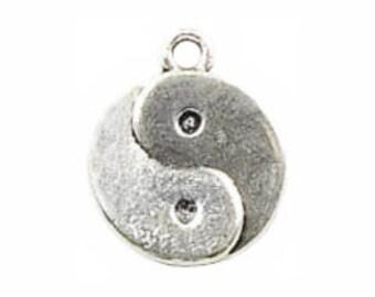 BULK 30 Silver Yin Yang Charm Pendant 18x15mm by TIJC SP0145B