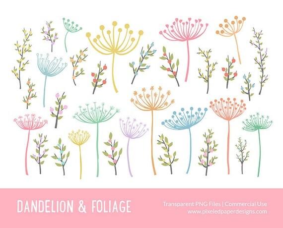Dandelion & Foliage Clip art