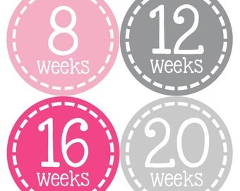 Pregnancy Milestone Stickers - Monthly Pregnancy Stickers - Baby Belly Stickers - Maternity Photo Props – Pregnancy Growth Sticker Props 905
