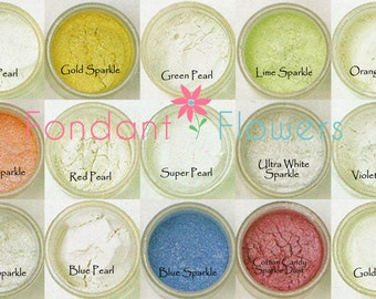 Sparkle Dust, Pearl Dust Food Coloring for dusting Gum paste and Fondant Super