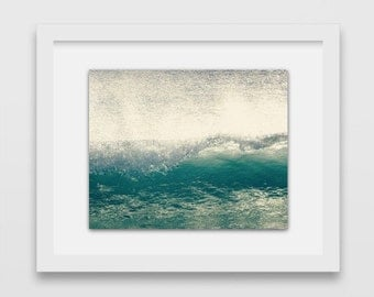Pacific Ocean Wave Print | Beach Photography | Malibu, California | Gift Under 50