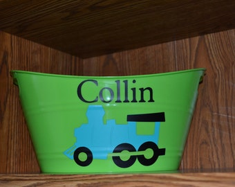 Train Birthday Party Centerpiece, Gift Basket and MORE - PERSONALIZE