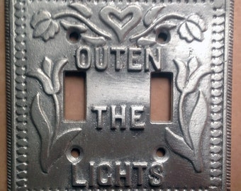 Great Light Switch Cover - Double Light Switch Plate - Cast Aluminum - Outen The Light - Reading, PA -