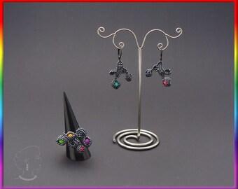 Instant download - Souls - Earrings - Beading Pattern - Herringbone