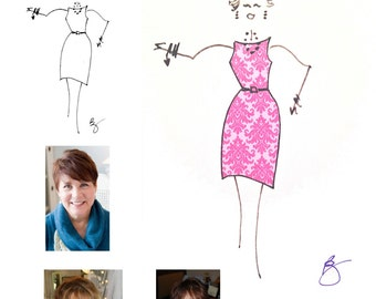 Custom portraiture : Hand drawn likeness from your photograph