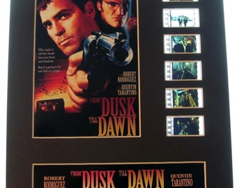 From Dusk Till Dawn 1992 Frame Ready Matted Movie 35mm Film Cells Standard Series 8x10