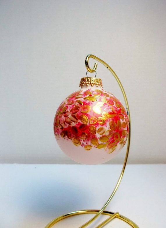 Christmas Ornaments Red And Gold : Red and gold christmas ornament glass tree