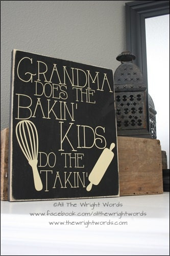 Decorating A 12x14 Living Room: 12x14 Grandma Does The Bakin' Wood Sign Love
