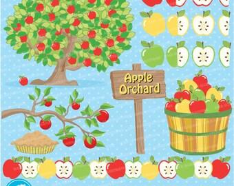 80%OFF Apple clipart, Apple clip art, apple orchard clipart, apple orchard clip art, Orchard clipart, Orchard clip art, AMB-138