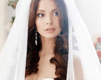 Bridal veil, long veil, traditional veil 2 -Tiers,cathedral veil
