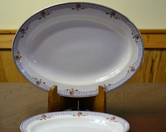 Vintage W H Grindley Co Dinnerware Platter Set of 2 Art Deco England PanchosPorch
