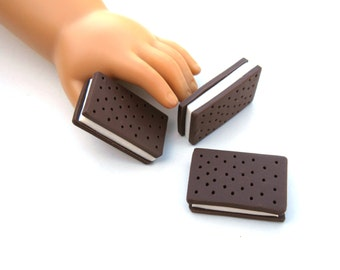 Ice Cream Sandwich - Handmade Gourmet Doll Food For Your American Girl Doll