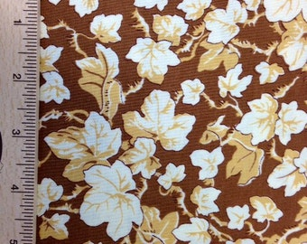 Phillip Jacobs Ivy fabric PJ19 BROWN tan cream leaves floral Free Spirit Quilting Sewing 100% cotton fabric by the yard