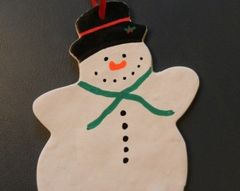 Sculpey Clay Snowman Ornament