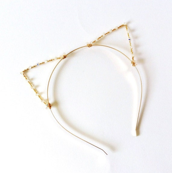 Gold Jeweled Cat Ears