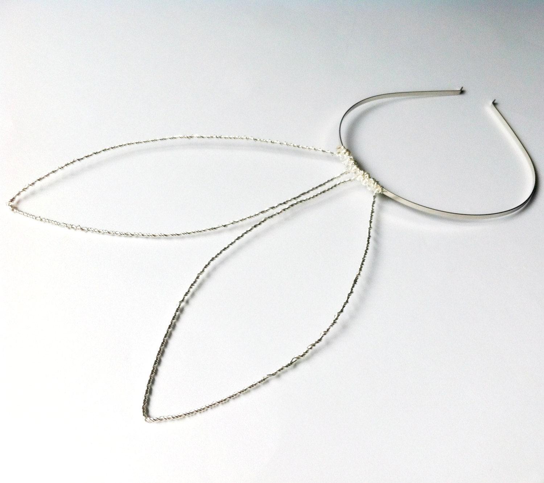 Oversized Side Silver Bunny Ears Glamourous Wire Rabbit Ears