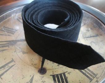 Vintage Black Skinny Tie / Mad Man Tie