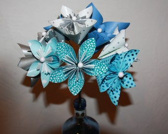 bouquet bride origami color choice. Free delivery in france