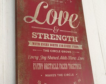 Personalized Quote, Custom Canvas, Our Family is a Circle of Love, Pick Your Own Colors, Premium Canvas