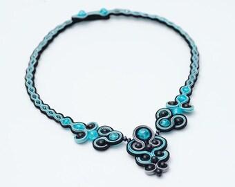 Cloud - soutache necklace
