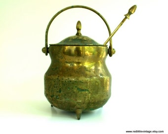 Farmhouse Decor, Rustic Home Decor, Cauldron, Fire Starter, Vintage Cauldron, Rustic Decor, Fire Pot, Smudge Pot, Vintage Fire Starter,