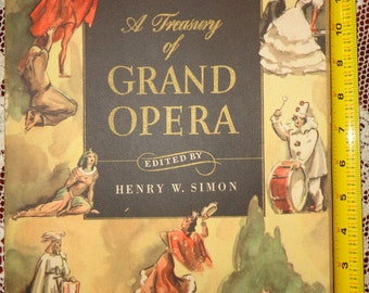 Grand Opera Book 1946 Piano Music and History  with Slip Case