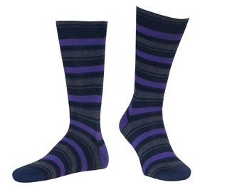 Violet, gray and black stripes