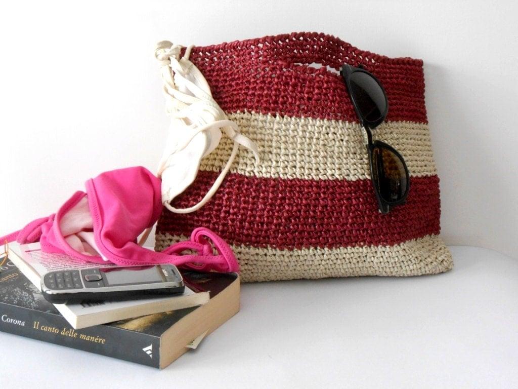 Crochet Summer Bag : Elegant summer bag crochet purse crochet handbag of by cosediisa