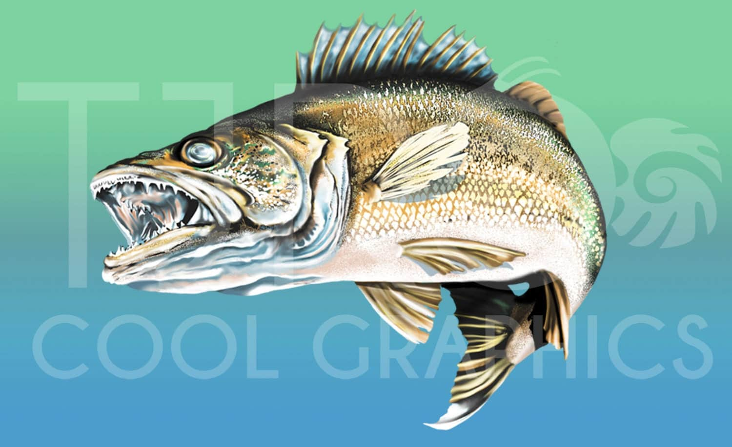Freshwater fish clipart - This Is A Digital File
