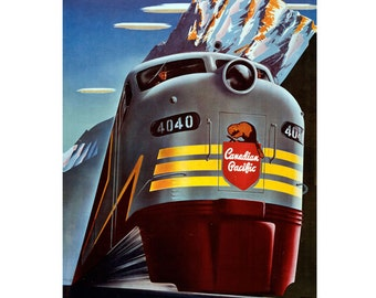 Canadian Pacific Railroad Train Wall Decal #48338