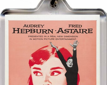 Audrey Hepburn - Funny Face - Key Ring - Key Chain  – New