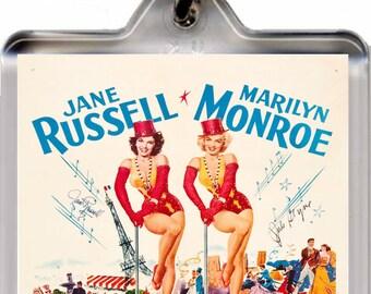 Marilyn Monroe - Gentlemen Prefer Blondes - Key Chain  – New